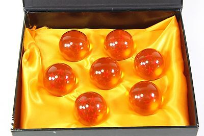 7 pcs New DragonBall Z 3.5cm Stars Crystal Ball Replica Set w/ Gift Box 45MM New