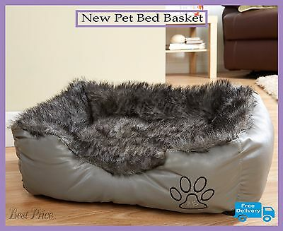 New Pet Bed Basket, Super Soft Indoor Cat/Dog Nest 2 Sizes All Colours