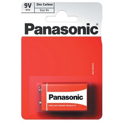 Genuine Panasonic - 9V Volt - 6F22 - Blister Carded 1 X PP3 Battery Zinc Carbon