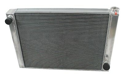 "Dirt Oval All Aluminum Racing Radiator 19""x24""  Chevy 2 Row Single Pass IMCA"