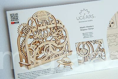 UGears * MECHANICAL THEATER * Self-propelled mechanical wooden model 3D puzzle