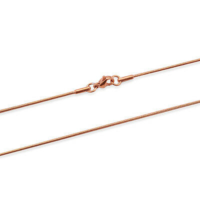 Ion Plated Rose Gold Stainless Steel Snake Chain (20 in, 2.0 mm, 4.2 g)