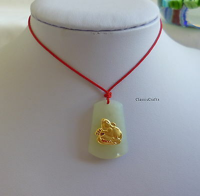 Special offer certified Chinese 12 Zodiacs Hetian Jade+9999 yellow gold pendant