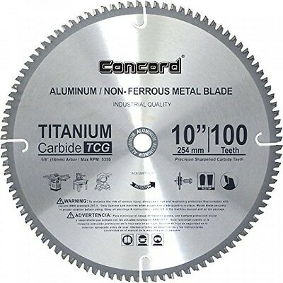 Concord Blades ACB1000T100HP 10Inch 100 Teeth TCT NonFerrous Metal Saw Blade