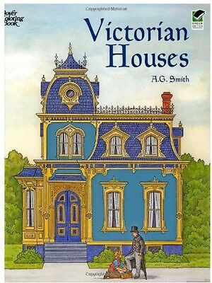 Victorian Houses (Dover History Coloring Book), New, Free Shipping