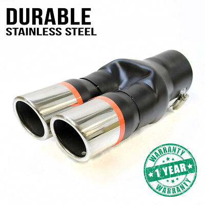 Universal Sport Dual Exhaust Pipes Muffler Trim Pipe Tail Tip Stainles Steel