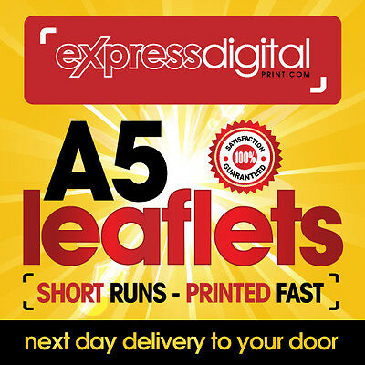 300 x A5 Colour Flyers Leaflets single sided 130gsm Printing Service - FREE P+P