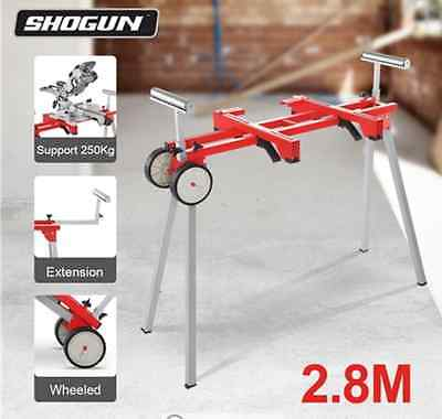 Shogun Lightweight Foldable and Extendable Mitre Saw Stand with Wheels