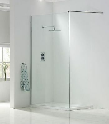 Wetroom Panels 2000mm High in 8mm Easy Clean Glass choice of sizes and fittings