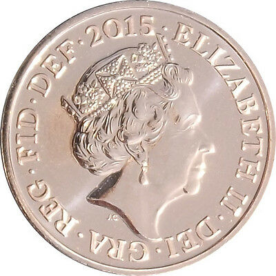 2015 1P COIN 5TH FIFTH PORTRAIT JODY CLARK RARE ONE PENCE (a)