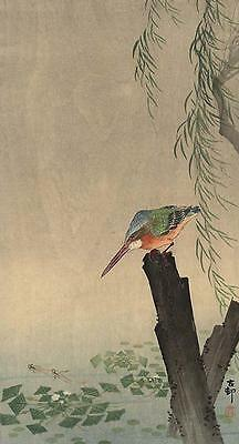 Japanese Reproduction Woodblock Print 22 Ohara Koson on Canvas Style Paper.