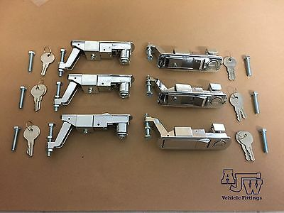 6 Chrome Compression Latch  Lever Lock Horsebox Trailers Locker Door Tack Box C2
