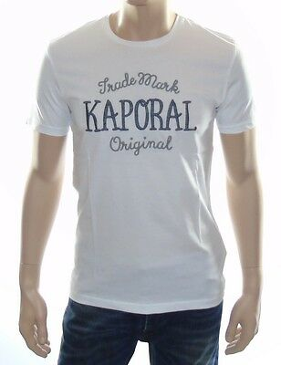 Tee shirt Kaporal Homme manches courtes POOL blanc
