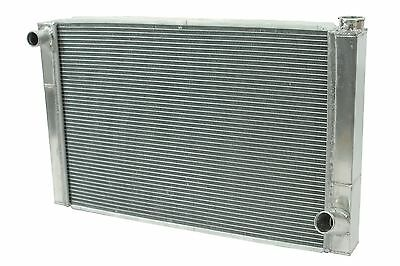"Dirt Oval All Aluminum Racing Radiator 19""x31"" Chevy 2 Row Triple Pass IMCA"