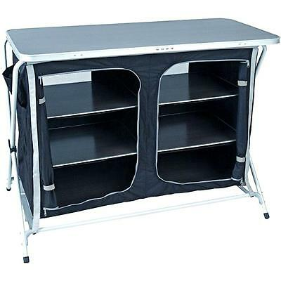 Royal Large Easy Up Folding Camping Storage Kitchen Unit Cupboard With Hard Top