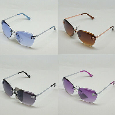 New Women DG Eyewear Sunglasses Fashion Rimless Oversized Shades 8035