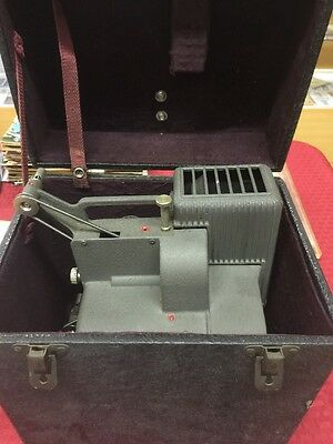 Vintage Kodascope Eight-33, 8mm Film Projector Working With Original Case & Oil