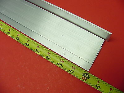 "3 Pieces 1/8""x 2"" ALUMINUM 6061 FLAT BAR 48"" long .125"" Plate New Mill Stock 12'"