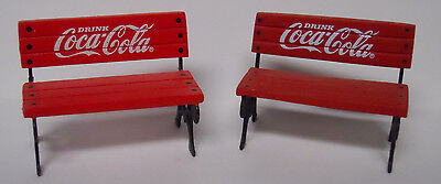 VINTAGE! 1992 Coca-Cola Town Square Collection Set of Park Benches #64319