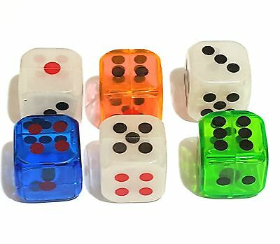 100 pc 28mm Dice Hollow Inside Birthday Party Pinata Filler Home Game Joke Gift