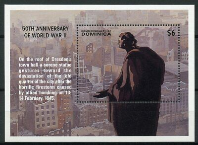 Dominica 1995 MNH WWII VE Day 50 End World War II 1v S/S Dresden Bombing Stamps