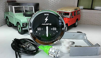Land Rover Series 1 2 2a Smiths Dash Panel Auxiliary Ammeter Gauge