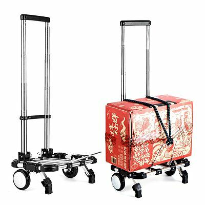 Luggage Carrier Wheeled Cart Folding Trolley Suitcase Hand Travel Dolly 66LBS