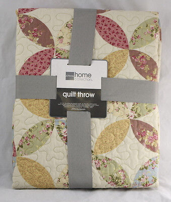 JCPenney Home Collection 50x70 Wall Hanging Lap Quilt Throw Blanket -Floral