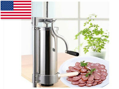 Stainless Steel 3L Meat Maker Filler Commercial Vertical Sausage Stuffer 2016