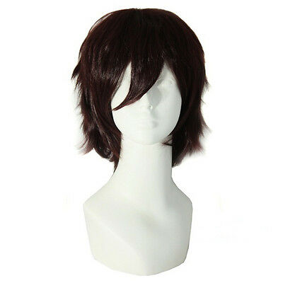 Men's Short Brown Wig Party Dress Almighty Costume Cosplay Party Wigs