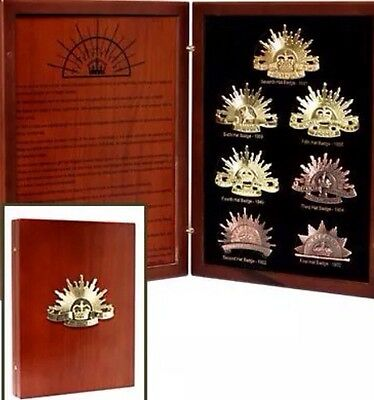 The Rising Sun Collection 7 Hat Lapel Pins * ANZAC Day