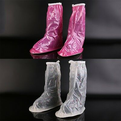 Zipper Anti-Slip Waterproof Shoe Covers Rain Boots Overshoes Protector L OK