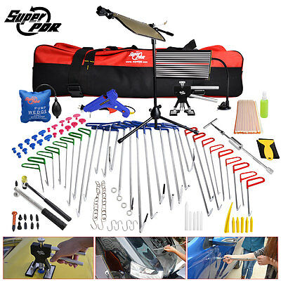 PDR Tools Whale Tails Rods Crowbars Paintless Dent Removal Repair Led Light Set