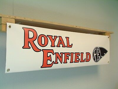 Royal Enfield Motorcycle Workshop Banner, Bullet ,Crusader, Interceptor, RE, GT