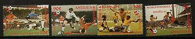Antigua Sg733/36 1982 World Cup Football  Mnh