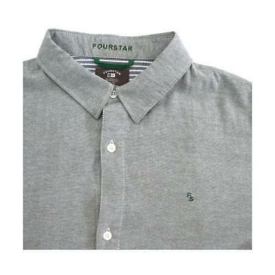 Fourstar Collective Oxford Short Sleeve Shirt Grey