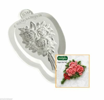 Katy Sue Design Rose Bouquet Decoration Cake Crafting Silicone Mould