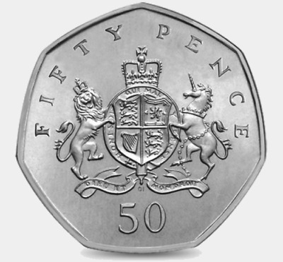 2013 50P COIN RARE CHRISTOPHER IRONSIDE 100TH ANNIVERSARY FIFTY PENCE b