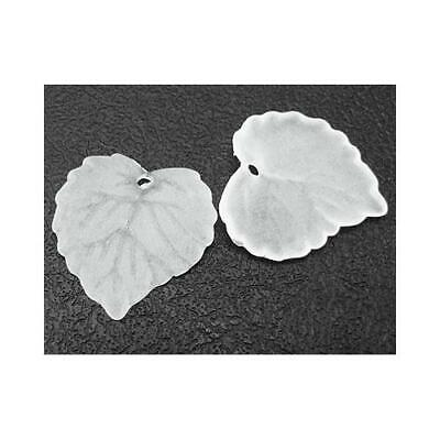 Lucite Leaf Beads 15 x 16mm White 50+ Pcs Art Hobby DIY Jewellery Making Crafts