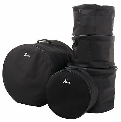 5x DRUM SET PERCUSSION TOMS SNARE BASSDRUM GIG BAG PROTECTION CASE FUSION SET