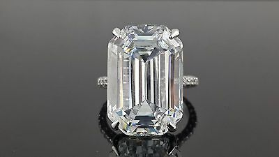 25ct Engagement ring 925 Sterling silver Jewelry for women white Emerald Cut Cz