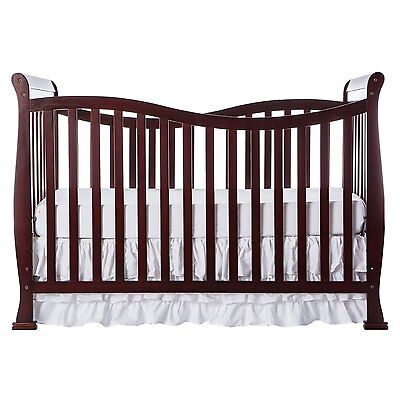 Dream On Me Violet 7 in 1 BABY CRIB, Unisex Convertible Life Style CRIB, Cherry