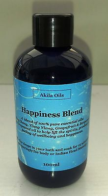 Happiness Massage Bath Oil Aromatherapy Blend 100ml May Chang Ylang Grapefruit