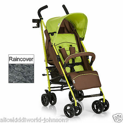 New Hauck Speed Plus Forest Green Brown pushchair buggy pram stroller+RAINCOVER