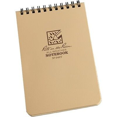 """Rite in the Rain 946T All-Weather Universal Spiral Notebook, Tan, 4"""" x 6"""""""