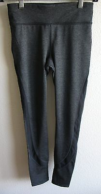Womens Xersion Fitted Stretch Workout Athletic Pants PXS Gray Polyester Spandex