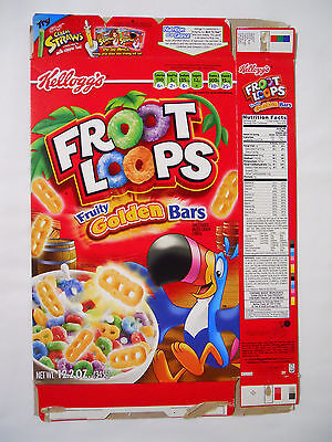 2009 Kellogg's Froot Loops Cereal Box-Fruity Golden Bars