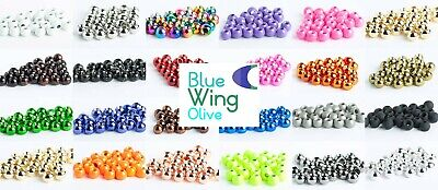 Premium Tungsten Fly Tying Beads - 25 Pack - 8 Sizes, 18 Colors