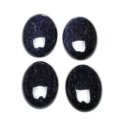 Pack of 1 x Blue Goldstone 22 x 30mm Oval-Shaped Flat-Backed Cabochon CA16668-7