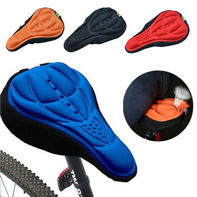 3D Pad Gel Silicone Soft Seat Cover Cycling Bicycle Bike Sports Saddle Cushion